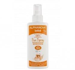Alphanova Sun Opalovací mléko ve spreji pro miminka SPF 50 BIO (125 g)