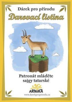 Arnika Darovací listina - Patronát mláděte sajgy tatarské