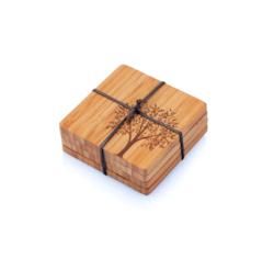 Bambu Podtácky z bambusu - strom listnatý (4 ks) - z bio bambusu