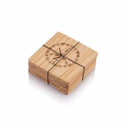 Bambu Podtácky z recyklovaného cedrového dřeva - symbol míru (4 ks)
