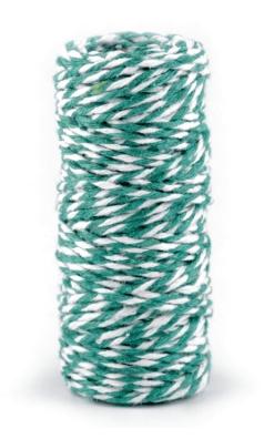 Bavlněný provázek - smaragdově zelený - pro minimalistické dárkové balení