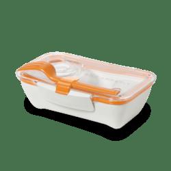 Black+Blum Bento box - bílo-oranžový - perfektní pro jednu porci