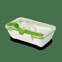Black+Blum Bento box - bílo-zelený - perfektní pro jednu porci