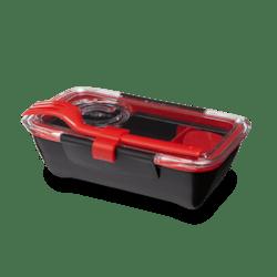 Black+Blum Bento box - černo-červený - perfektní pro jednu porci