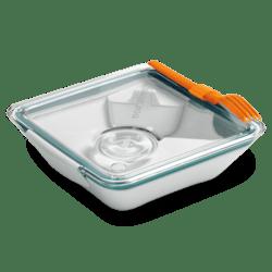 Black+Blum Lunchbox Appetit - bílo-modrý - krásný i dokonale praktický