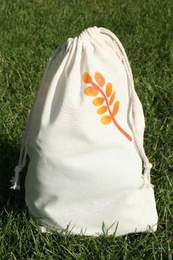 Český západ Bavlněný pytlík na pečivo s potiskem (L) - z přírodní bavlny