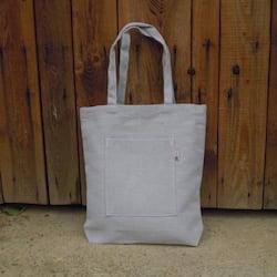 Český západ Nákupní taška s kapsou - z přírodního lnu a bavlny