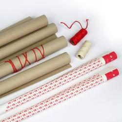 Dárkový balicí set - recyklovaný papír a ladící šňůrky (9 ks) - Loki