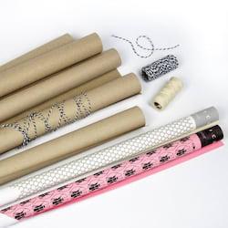 Dárkový balicí set - recyklovaný papír a ladící šňůrky (9 ks) - Thoth