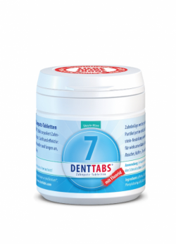 Denttabs Zubní pasta v tabletách - s fluoridem (125 ks)
