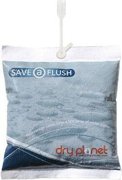 Dry Planet Save-a-flush - uspořte 1,2 litru vody s každým spláchnutím toalety