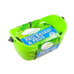 EcoForce Závěsný košík s 24 kolíčky na prádlo - z recyklovaného materiálu