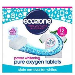 Ecozone Bělící tablety s kyslíkem (12 ks) - jen přidáte do pračky