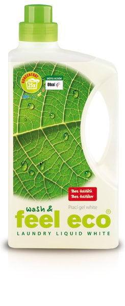 Feel Eco Prací gel na bílé prádlo (1,5 l) - pro zářivě bílé prádlo