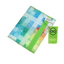 FOREWEAR Zápisník - zelený - z recyklovaného textilu