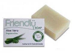 Friendly Soap Přírodní mýdlo aloe vera (95 g) - pro suchou kůži, bez vůně