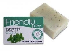 Friendly Soap Přírodní mýdlo máta a mák (95 g) - s chladícím účinkem