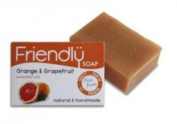 Friendly Soap Přírodní mýdlo pomeranč a grep (95 g) - AKCE