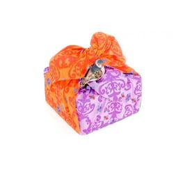 Furochic - dárkový furoshiki šátek - oranžovo-fialový - starý japonský způsob balení dárků