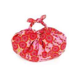 Furochic - dárkový furoshiki šátek - růžovo-červený - starý japonský způsob balení dárků