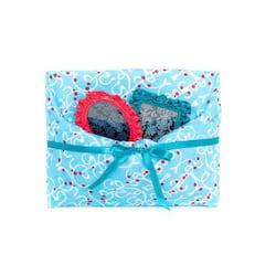 Furochic - dárkový furoshiki šátek - světle modrý