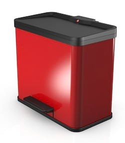Hailo Öko Duo Plus L - červený - se 2 vyjímatelnými vnitřními koši