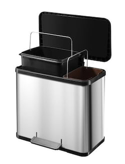 Hailo Öko Duo Plus L - ušlechtilá ocel - se 2 vyjímatelnými vnitřními koši
