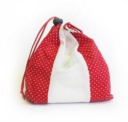 Happy Bag Sada sáčků na ovoce, zeleninu a pečivo (4 ks) - červený puntík