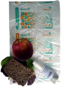 HBABio Svačinové sáčky (15 ks) - z bioplastu, kompostovatelné