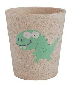 Jack n' Jill Dětský kelímek Dino - z bambusu a rýžových zrn
