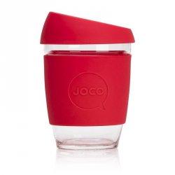 Jococup (340 ml) - červený - z odolného borosilikátového skla