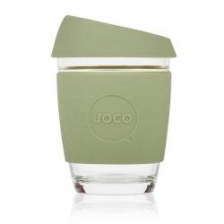 Jococup (340 ml) - khaki zelený - z odolného borosilikátového skla