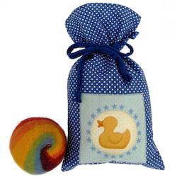 La Pytla Dárkový pytlík - Modrý dudlík (S) - ručně šitý na moravě