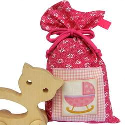 La Pytla Dárkový pytlík - Růžový dudlík (M) - ručně šitý na moravě
