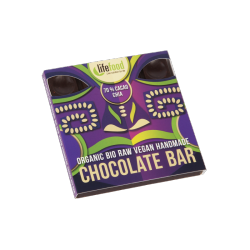 Lifefood Čokoláda 70 % kakaa s chia semínky RAW & BIO (35 g)