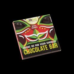 Lifefood Čokoláda s ořechy a třešněmi RAW & BIO (35 g) - s práškem z macy