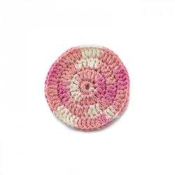 Love Your Home Odličovací háčkovaný tampónek - světle růžový melír