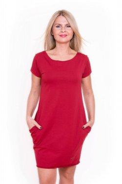 Meera Design Božské šaty Afrodité - chilli (L/XL) - s krátkým rukávem