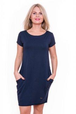 Meera Design Božské šaty Afrodité - navy (S/M) - s krátkým rukávem