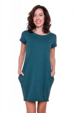 Meera Design Božské šaty Afrodité - petrolejové (L/XL) - s krátkým rukávem
