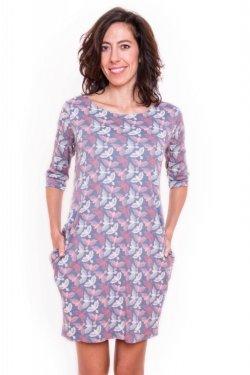 Meera Design Božské šaty Afrodité - s holubicemi (L/XL) - s tříčtvrtečním rukávem