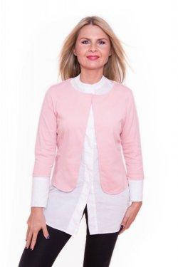 Meera Design Ležérní sako MAAT - růžové (L/XL) - k šatům, kalhotám i sukni