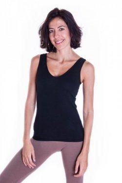 Meera Design Rafinované tílko Nut - černé (S) - základní kousek do šatníku
