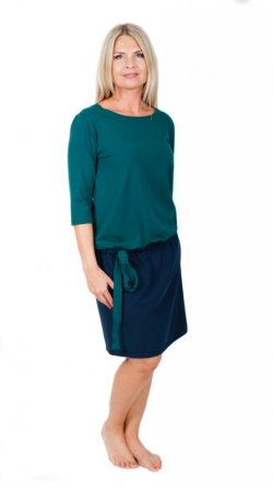 Meera Design Šaty se stuhou Héra - petrolej/navy (XL)