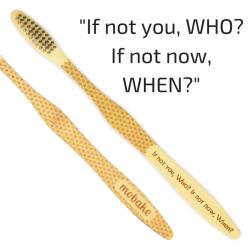 """Mobake Motivační bambusový kartáček - """"If not you, Who?..."""" (medium)"""