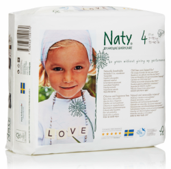 Naty Ekoplenky Maxi 4 (7 - 18 kg) (26 ks) - z 55-60 % rozložitelné