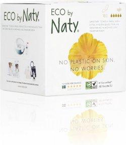 Naty Noční vložky s křidélky (10 ks) - 100% přírodní materiál, 5 kapiček