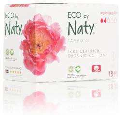 Naty Tampony Regular (18 ks) - 100% z biobavlny, 2 kapičky