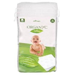 Organyc Dětské čistící vatové čtverce (60 ks) - 100% z biobavlny