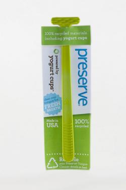 Preserve Škrabka na jazyk - zelená - z recyklovaných kelímků od jogurtů